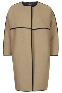 TOPSHOP Collarless Blanket Coat - £89